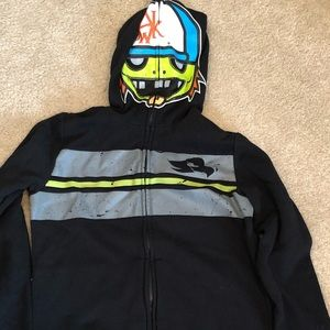 Kid's Tony Hawk Zip-Up Character Hoodie Size Large